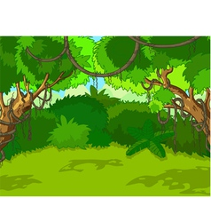 Tropical forest landscape vector