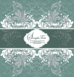 Vintage styled card with floral ornament backgroun vector image vector image