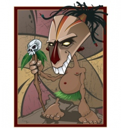 voodoo witchdoctor vector image