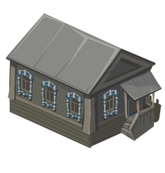Wooden old house in rustic style with porch vector