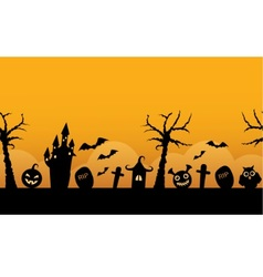 Seamless horizontal background halloween vector