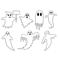 Set of different ghosts vector