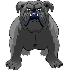 Bulldog thumb vector