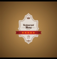 Classic restaurant menu template vector