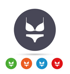 women bra and panties icon intimates underwear vector image