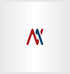 Letter m and n logo sign symbol vector
