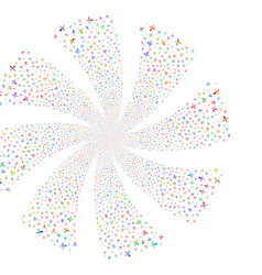 Fork and spoon fireworks swirl rotation vector