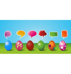 Social media painted Easter egg set vector image