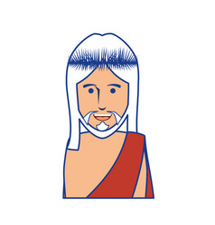 jesus christ man icon vector image