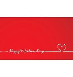 happy Valentines Day -Handmade Calligraphy vector image