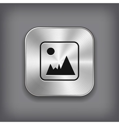 Photography icon - metal app button vector