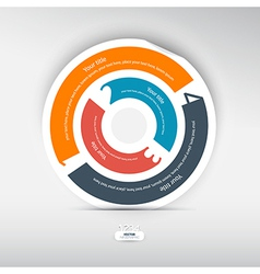 Progress steps for tutorial circle infographics vector