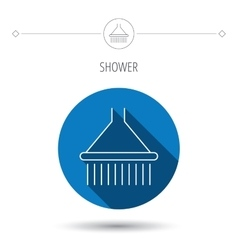 Shower icon washing equipment sign vector