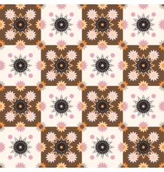Seamless pattern design with ornament vector