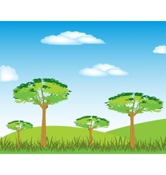 Year landscape with tree vector