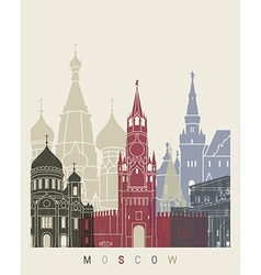 Moscow skyline poster vector