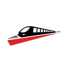 Flat train icon on white background vector