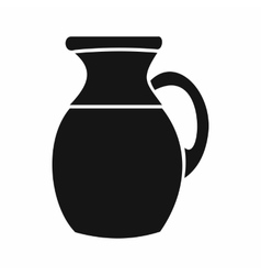 Jug of milk icon simple style vector