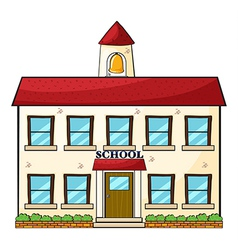 A school building vector image