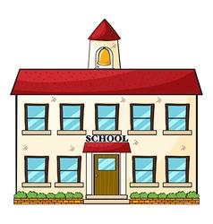 A school building vector image