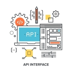 api interface concept vector image
