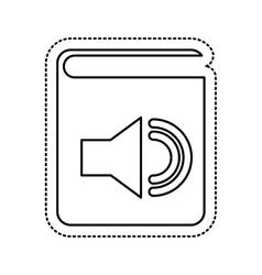 Audio book electronic icon vector