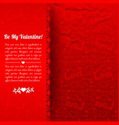 beautiful romantic poster vector image vector image