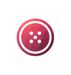 Button sewing icon vector