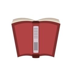 Cartoon open book school utensil vector
