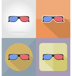 cinema flat icons 15 vector image vector image
