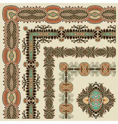 Collection of ornamental floral vintage frame desi vector