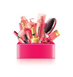 cosmetics box isolated vector image