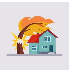 Estate insurance vector