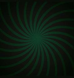 Green and black spiral vintage vector