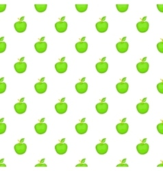 Green apple pattern cartoon style vector image