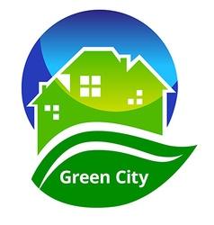 GreenCitySign vector image vector image