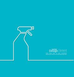Icon hand sprayer vector