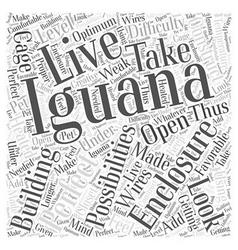 Iguana enclosures word cloud concept vector
