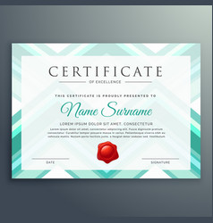 Modern blue certificate design template vector