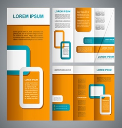Modern brochure template vector image vector image