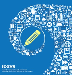 pen icon Nice set of beautiful icons twisted vector image