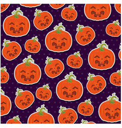 Pumpkin hallooween pattern background vector
