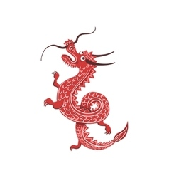 Red dragon japanese culture symbol vector