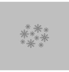 snowflakes computer symbol vector image vector image