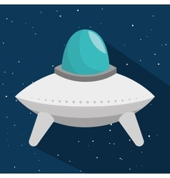 Space craft toy isolated icon vector