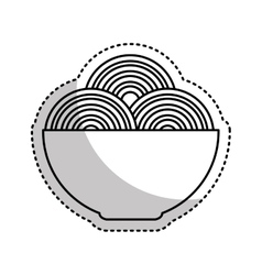 Spaguetti dish isolated icon vector