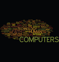 The day my computer died text background word vector