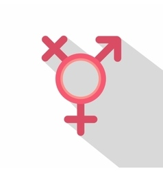 Transgender sign icon flat style vector