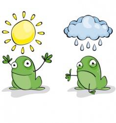 Weather frog vector