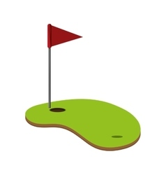 Golf hole icon vector